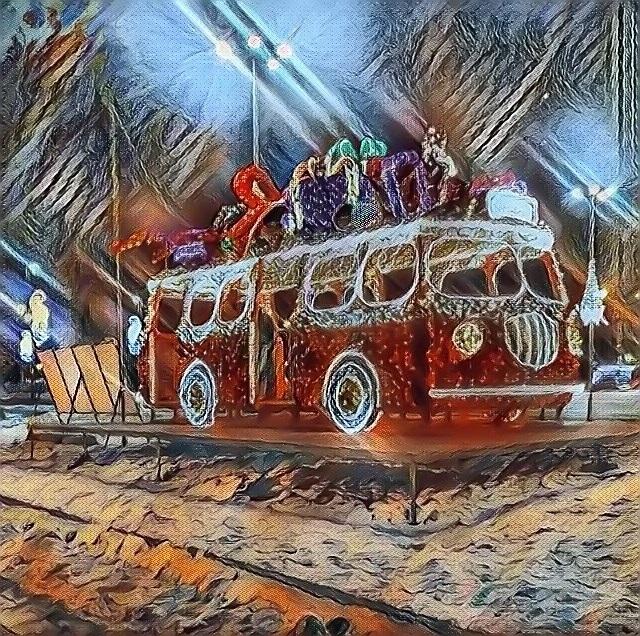"autobus ""ogórek"" iluminacje"